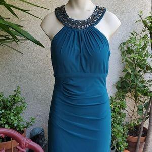 Xscape Green Dress NWOT